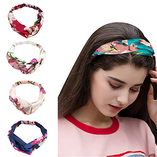 Mustbedone Women and Girls Headbands Elastic Head wraps, Hair Hoop,Hair Band Accessories (one size, 5 ()