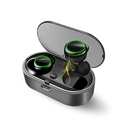 XEENTONG V4.2 Estéreo Auriculares Bluetooth Mini auriculares con micrófono y estuche de carga,