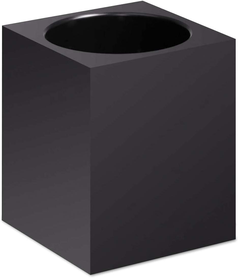 VINUMEN Pen Holder for Desk Office Pencil Holders Cup Desktop Supplies (Black)