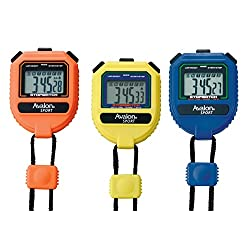 Avalon Sport Stopwatch - Extra Large Display Buttons - Handheld- Split Time - Chronograph in 1/100 Second - Perfect for Coaches, Runners, Athletes - Blue, Yellow, Orange Set
