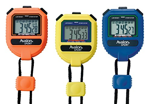 Avalon Sport Stopwatch - Extra Large Display Buttons - Handheld- Split Time (Split Clock Extra Large Display)