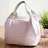 thermal analyzer - YJYdada Insulated Cold Canvas Stripe Picnic Carry Case Thermal Portable Lunch Bag (G)
