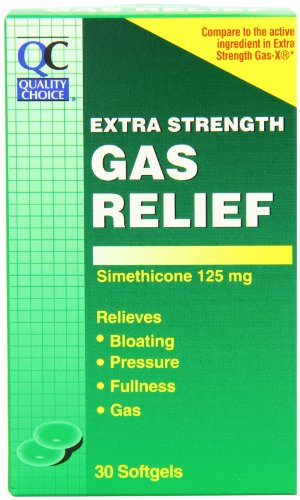 Quality Choice Extra Strength Gas Relief Simethicone 125mg. Softgel 30 Count  ,  Boxes (Pack of 6)
