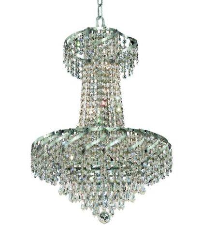 Belenus 18 Light (Elegant Lighting ECA4D18C/RC Belenus 22-Inch High 6-Light Chandelier, Chrome Finish with Crystal (Clear) Royal Cut RC Crystal)