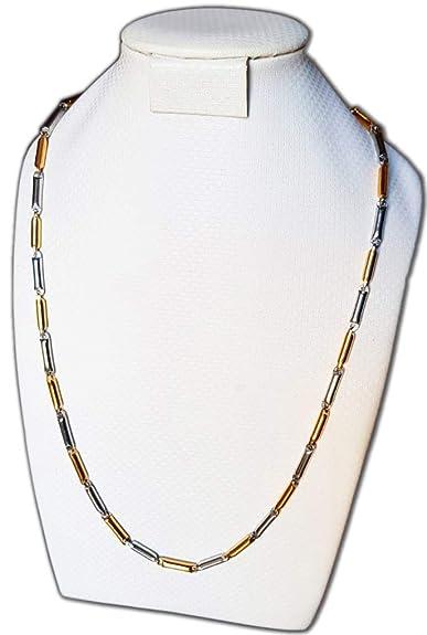 DP Design® Collar Cadena Cadena Acero Inoxidable Quirúrgico Cilindros 2 colores Hombre Mujer 3 – 1