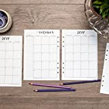 "2018 Monthly Calendar for A5 Planners, fits Filofax, Kikki K, Carpe Diem Planners, 6 Ring binder, 5.8"" x 8.3"" (Planner Not Included) …"