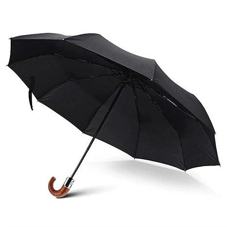 Automatic Paraguas plegable Men Rain Quality Windproof Uv Large Paraguas Male Black Paraguas plegable Parasol