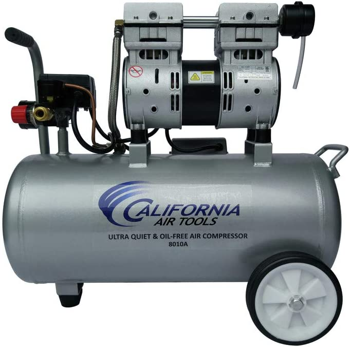 California Air Tools 8010A Ultra Quiet & Oil-Free 1.0 HP Air Compressor