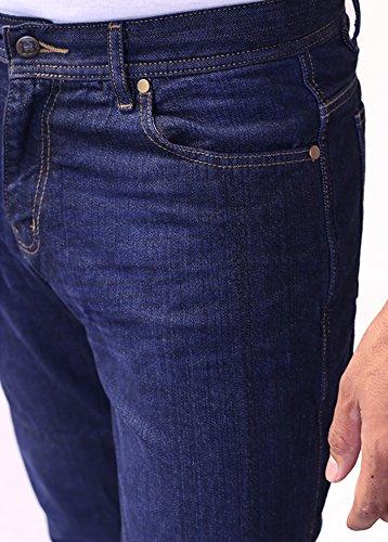 HBMotorradHose - Motorrad DuPont Kevlar ® Jeans. Herren-Straight Fit, blau Motorradhose mit CE-Protektoren