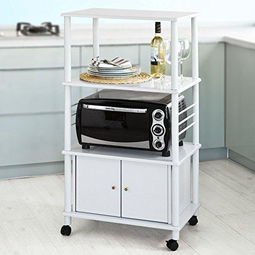 SoBuy® Küchenwagen, Küchenschrank, Rollschrank, Küchenregal,FRG12-W