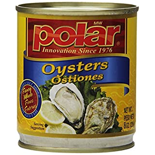MW Polar Seafood, Boiled Oyster, 8-Ounce (Pack of 12)