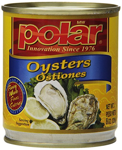 MW Polar Seafood, Boiled Oyster, 8-Ounce (Pack of (Polar Oysters)