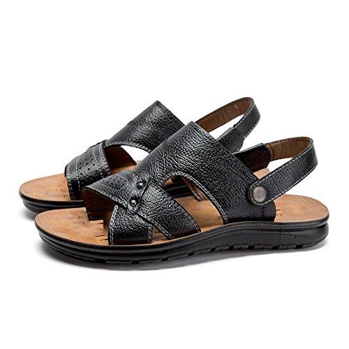 sandali da WFL uomo da spiaggia uomo scarpe da estive estivi moda indossare scarpe marea sandali Pantofole esterni Nero H8HRqWPz