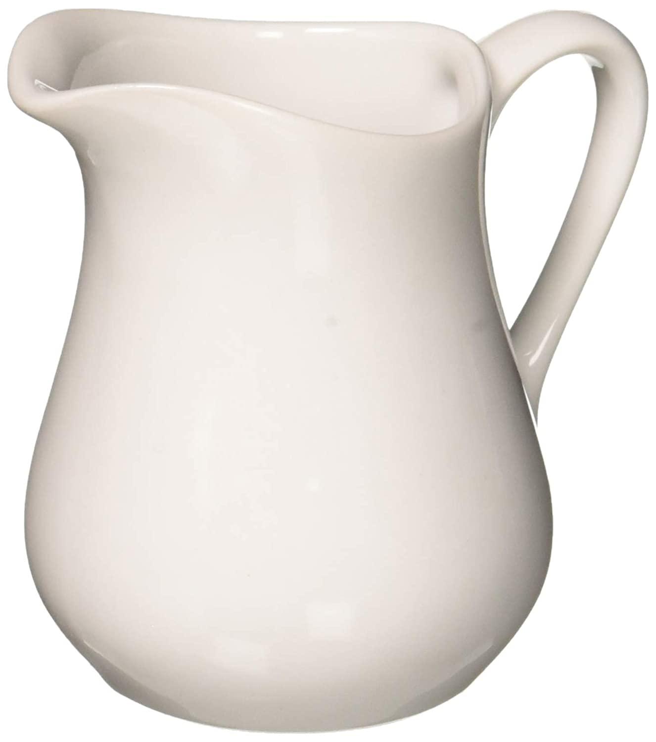 HIC Harold Import Co. NT305/2 Porcelain Creamer Pitcher, 4 Ounce, Set/2