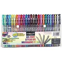 Sargent Art 22-1499 - 100Count Assorted Gel Pen Set - 100 Different Colors, Glitter, Metallic, Fluorescent