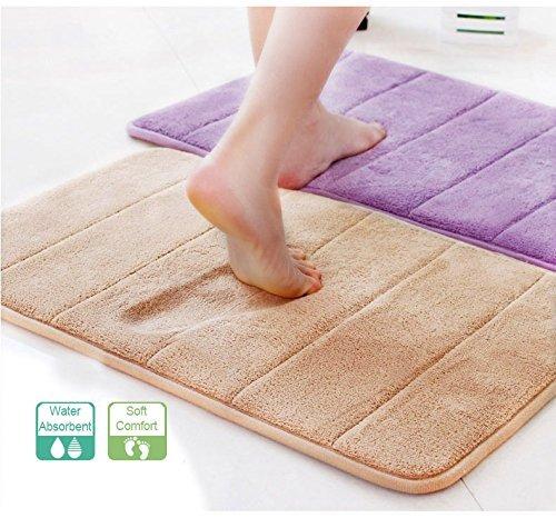 UPC 712809336555, Aoleytech Non-slip Microfiber Shag Bathroom Rugs Bath Mats Shower Rug - Dark Gray 16 x 24 inches,beige