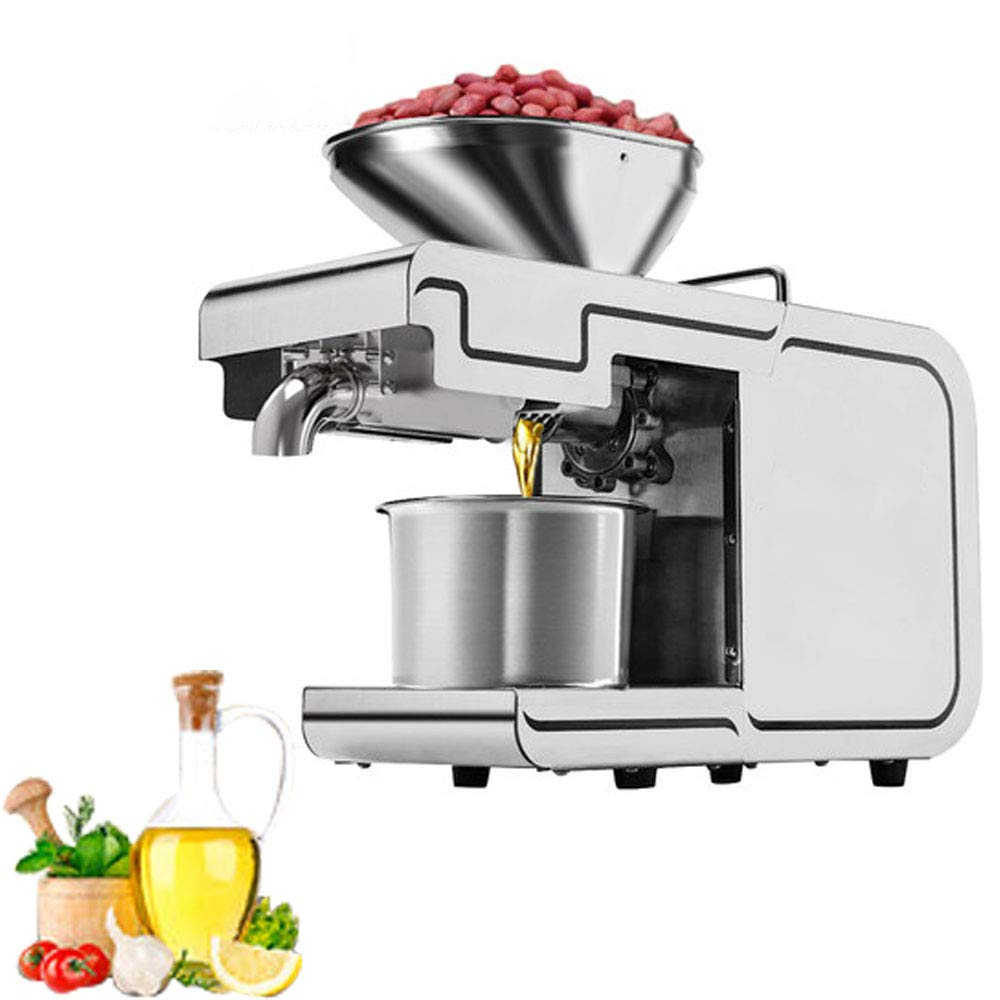 BMGIANT Oil Press Machine 50℃-220℃ Hot Cold Oil Extractor Home Auto Physical Pressing for Peanut Flax Seed Avocado Coconut