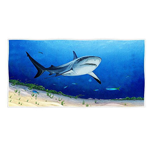 Redland Art Summer Marine Animals Theme Deep Sea Shark Beach Towel 30