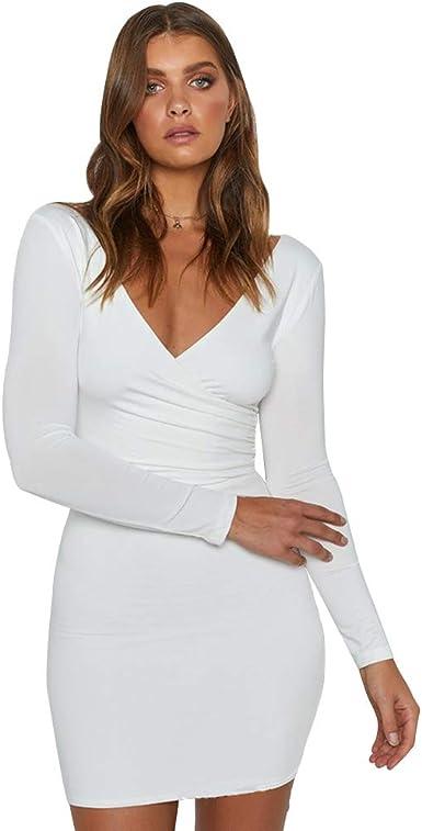Luiyy® Vestido de Club Nocturno para Mujer Moda Vestido de Fiesta ...