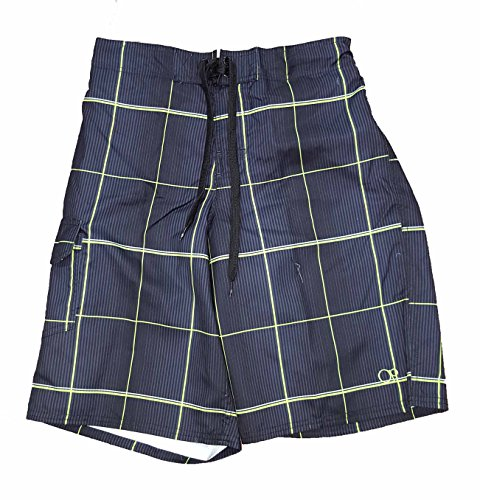 op-black-plaid-eboard-short-at-knee-22-outseam-swim-trunks-small