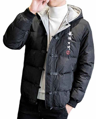 Year Fly Jacket 1 Style Mens Embroidery uk Reversible Chinese Winter Coat 41dq1RFwn