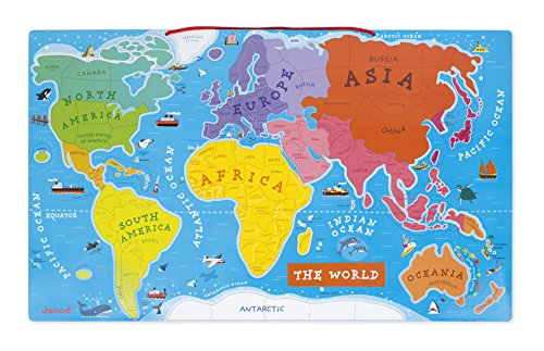 Janod magnetic world map janod amazon toys games gumiabroncs Gallery