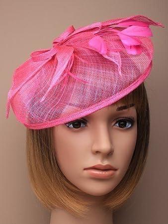Beautiful Large Cerise Pink Hatinator Hat with slanted band Bridal. Races c9e7d4c56dd