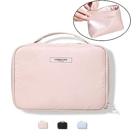 f9a09f7177c8 Botta Design Pink: Cosmetic Bags 2 Piece Set, Women's Travel ...