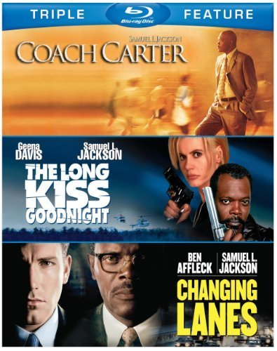 Samuel L. Jackson Triple Feature: Coach Carter / The Long Kiss Goodnight / Changing Lanes [Blu-ray] by Warner Home Video