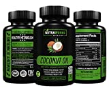 Organic Coconut Oil 2000mg. Extra Virgin Coconut Oil for Skin, Healthy Weight Loss & Hair Growth. Cold Pressed, Non-GMO Coconut Oil Capsules. Certified Organic 100% All Natural Supplement 60 Softgels For Sale