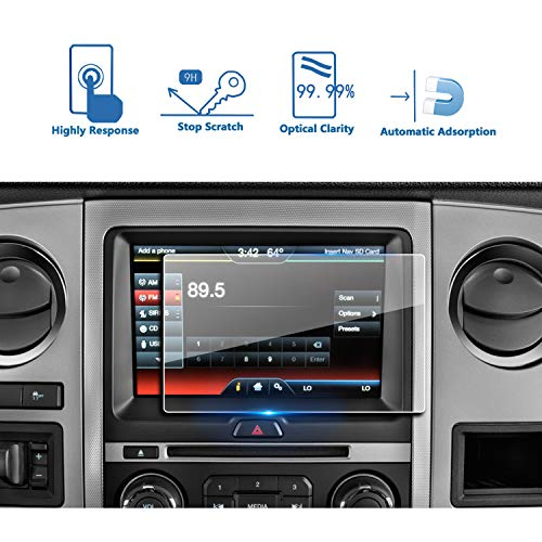 LFOTPP Ford Escape Expedition Flex Fusion Focus RS ST Mustang GT350 8 Inch Car Navigation Screen Protector,Tempered Glass Center Touch Screen Protector Anti Scratch High Clarity
