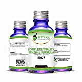 Complete Vitality Mineral Formula- Energy Booster Nerve Tonic & Anxiety Relief Remedy- Unique 5 Phos Tissue & Cell Salt Synthesis - Natural Stress Relief - Combat Mineral Imbalances & Fatigue