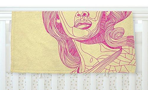 KESS InHouse Roberlan Bardot Pink Girl Fleece Baby Blanket 40 x 30 [並行輸入品]   B0785P9XNF