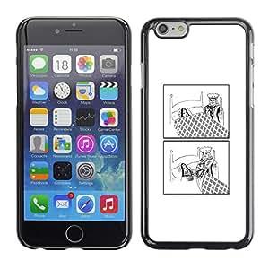 EJOY---Cubierta de la caja de protección la piel dura para el / Apple Iphone 6 Plus 5.5 / --Divertido Rey