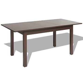 Vidaxl Table Extensible De Salle À Manger Marron Foncé 120/160 X 70