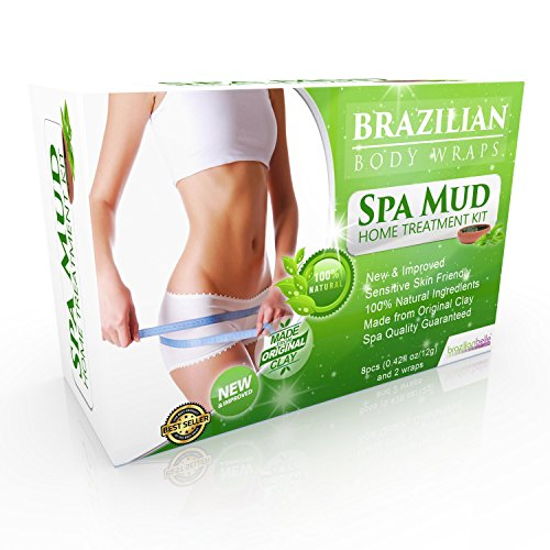Brazilian Body Wraps - Spa Mud Home Treatment Kit for Women Slimming Home Spa Treatment for Cellulite, Weight Loss, Stretch - Detox Wrap