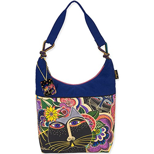 Laurel Burch Scoop Tote, 12.5 by 16 by 3.5-Inch, Carlotta's Cats