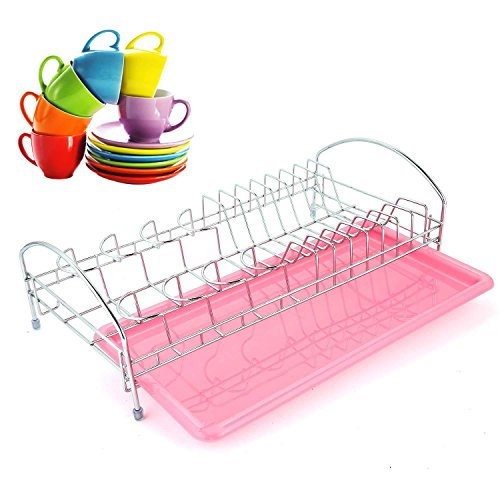 Meharbour Large Capacity Dish Drainer Drying Rack, Fully Sta