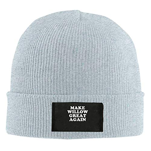 (Make Willow Great Again Wool Knit Hat Beanie Caps Unisex Slouchy Winter )