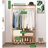 ASfairy-Home Bamboo Garment Coat Clothes Hanging