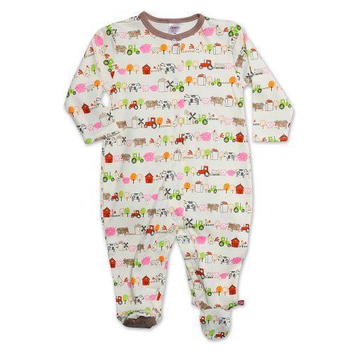 Zutano Baby-Girls Newborn Little Farm Organic Footie