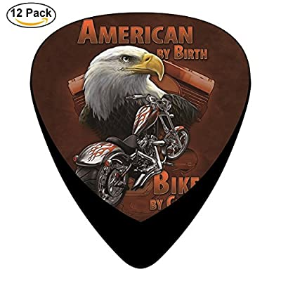 american-by-birth-t-shirt-the-mountain Celluloid Guitar Picks 12 Pack Includes Thin,Medium,Heavy Gauges For Electric Acoustic Guitar