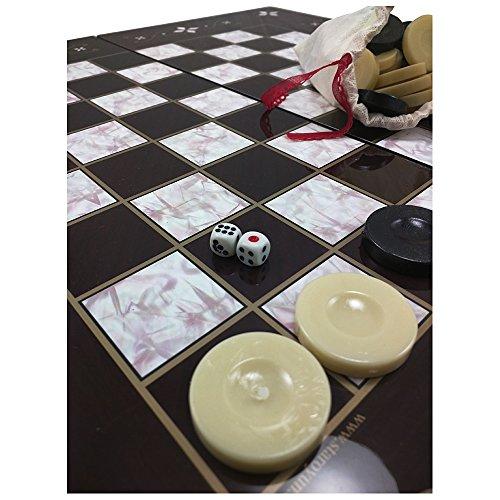 Design Backgammon Set (The 19'' Turkish Backgammon Board Game Set