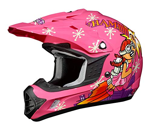 AFX FX-17Y Unisex-Child Off-Road-Helmet-Style Helmet (Rocket Girl, -