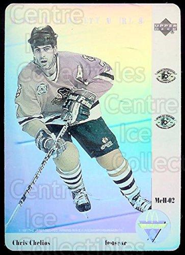 ((CI) Chris Chelios Hockey Card 1991-92 McDonalds Upper Deck Hologram 2 Chris Chelios)