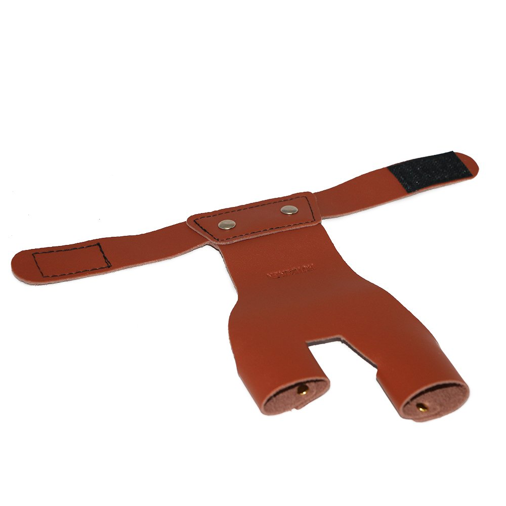 Toparchery Archery Left Hand Guard Protector Shooting Glove Brown