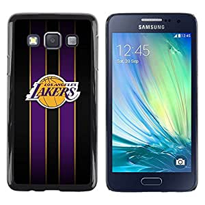 Design for Girls Plastic Cover Case FOR Samsung Galaxy A3 Los Angeles Laker Basketball OBBA