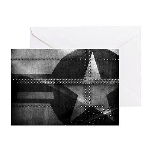 Aviation Card - CafePress - Rivet Star - Greeting Card (10-pack), Note Card with Blank Inside, Birthday Card Matte