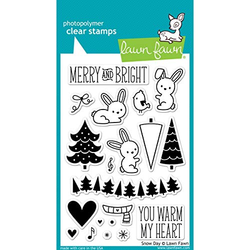 Lawn Fawn Clear Stamps - Snow Day Stamps (Lawn Fawn Bunnies)