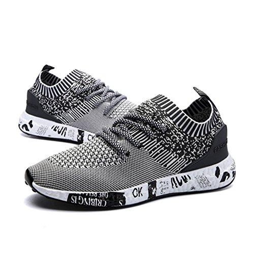 Gimnasio IIIIS Zapatillas Hombre Hombre Deportivas Zapatillas Zapatillas gray Cordones T Running 239 Hombre en de 7f7qA